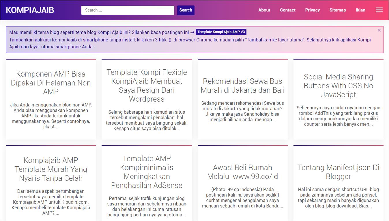 Halaman Depan Situs Kompi Ajaib - Nanda Network