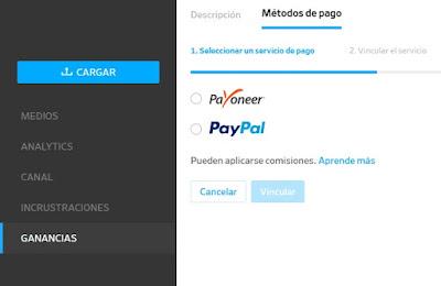 Solicitar pago en Dailymotion Partner