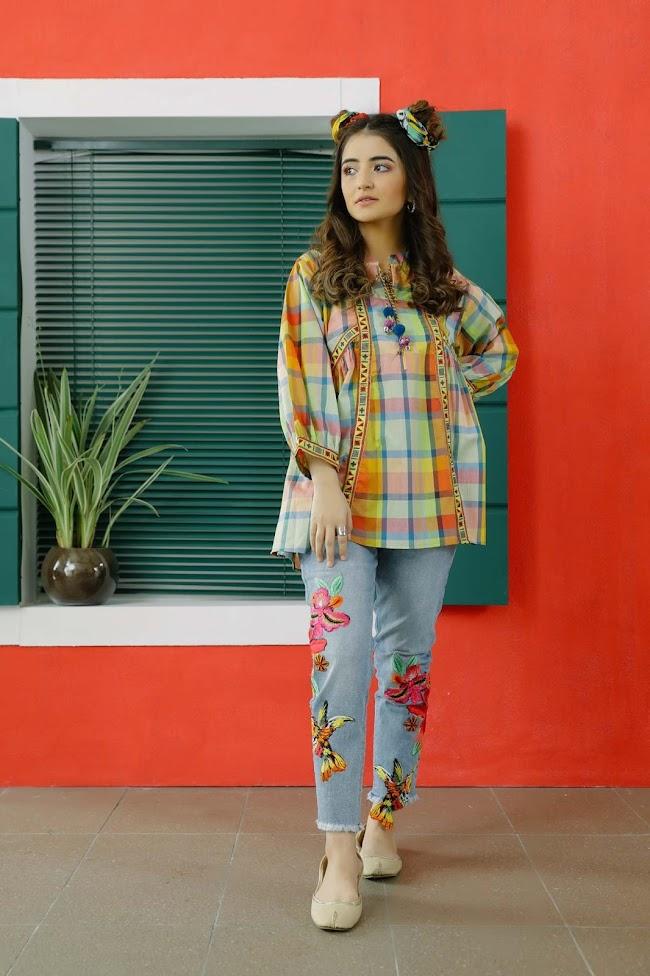 Ethnic Multicolor Yarn Dyed Shirt