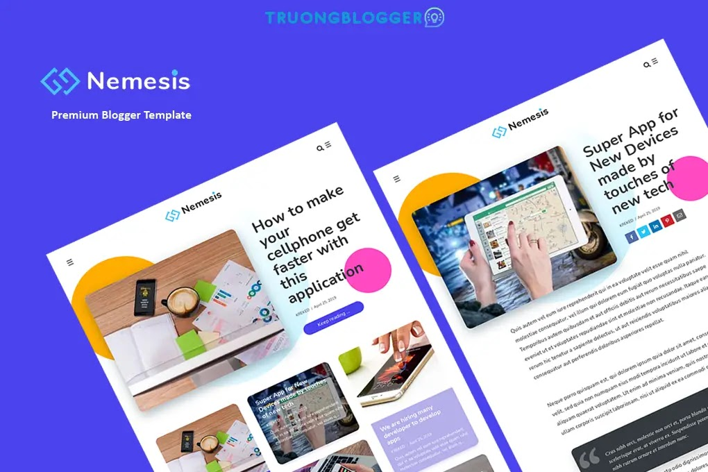 Nemesis Premium Blogger Template Free Download