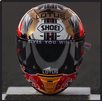 Ini Dia Tampang Helm Baru Marquez Edisi Motegi 2016