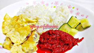 Nasi lemak Sambal Telur Dadar