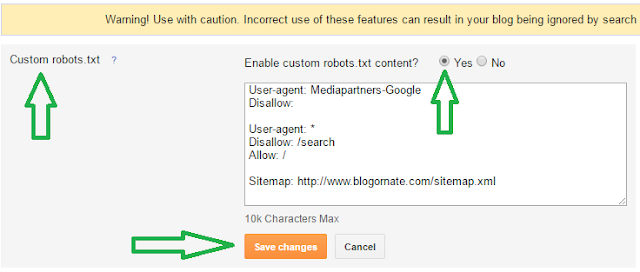 How To Add A Blogger Custom Robots.txt File?