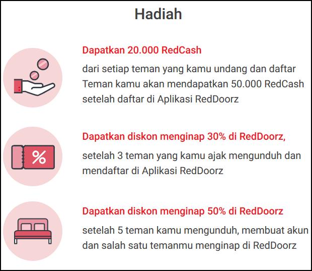 Cara Mendapatkan Diskon 50 Persen Menginap Di Seluruh Hotel Reddoorz Dan Bonus Saldo Redcash Denianggoleta