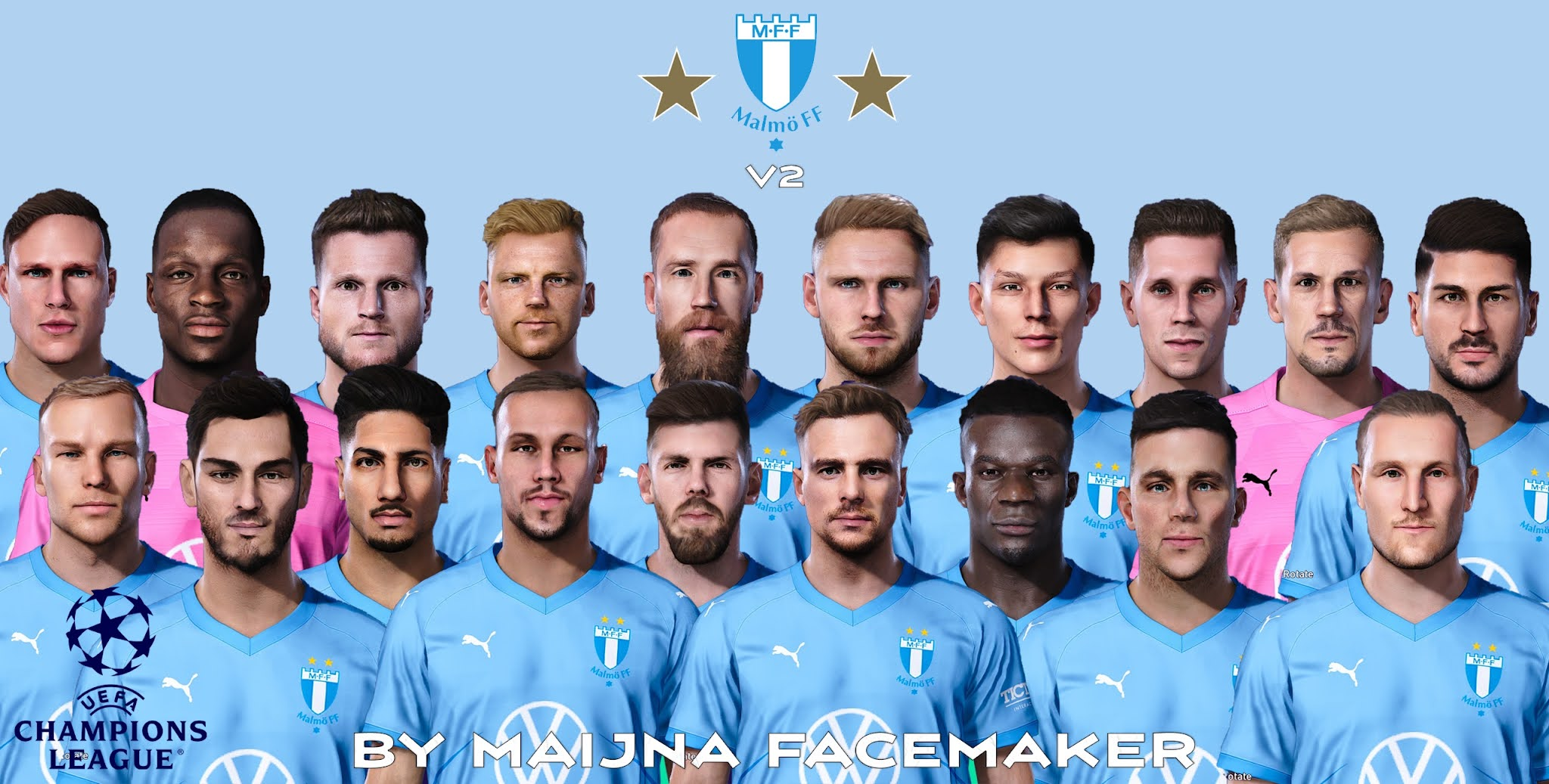 PES 2021 Malmö FF Pack (Faces, Stadium, TED-file, Kits)