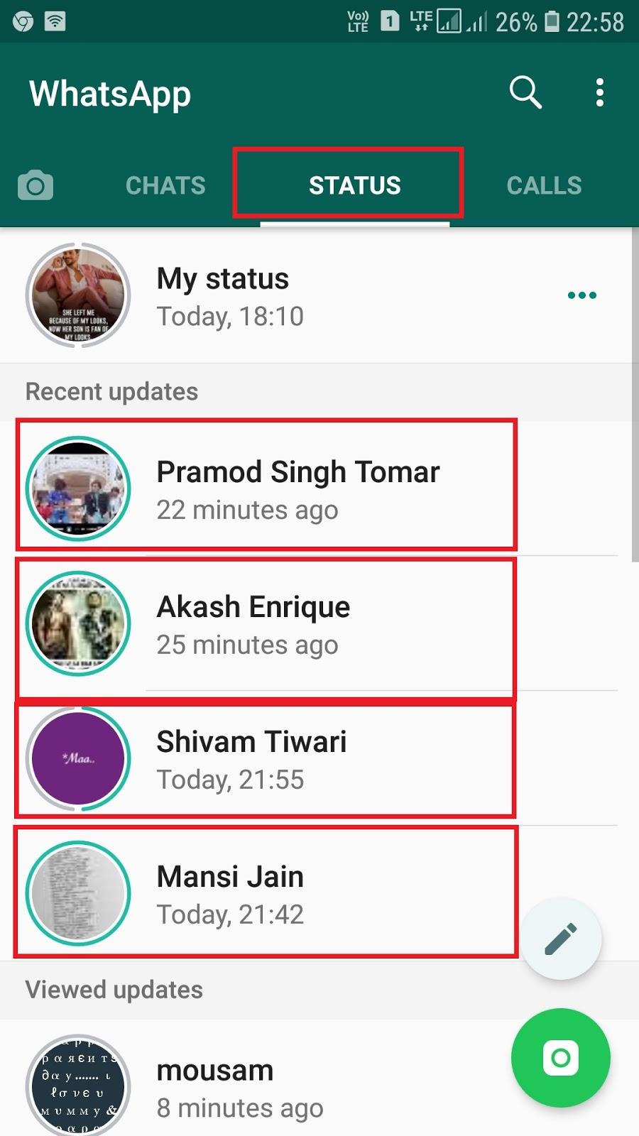 whatsapp status kaise dekhe और whatsapp status kaise dale
