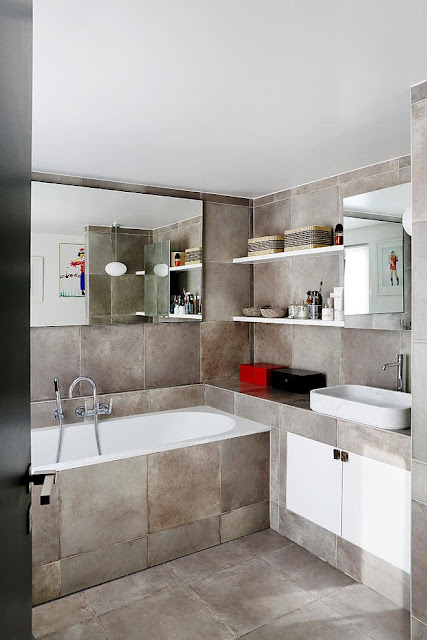 Salle de bain style industriel effet béton