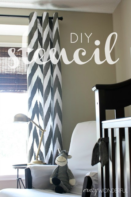 DIY - stenciled curtains - tutorial - DO IT YOURSELF