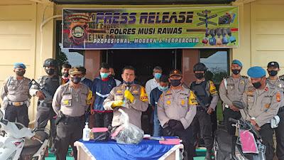 Polres Musi Rawas Gelar Press Release Perkara Curas Dan Curat