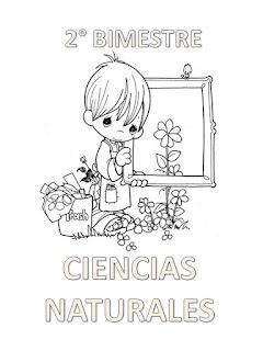 PORTADA DE CIENCIAS NATURALES PARA COLOREAR