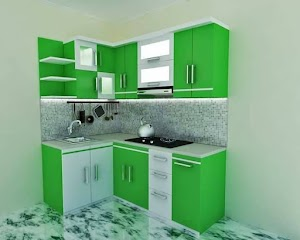 Desain Dapur Minimalis Sederhana Nuansa Hijau 05