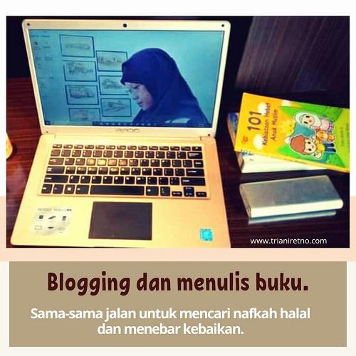 penulis buku jadi blogger