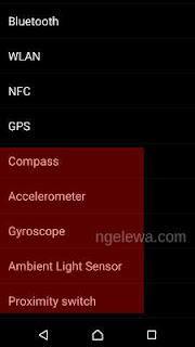 tampilan test sensor