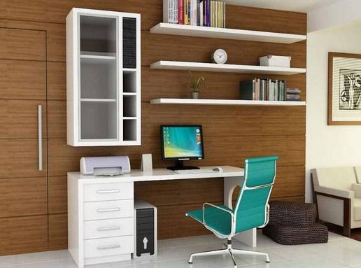 Desain ruang kerja minimalis di rumah terbaru