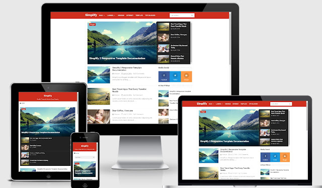Download Simplify 2 Pro Responsive Blogger Template