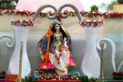 Saraswati Puja Images, Pandels, Decoration