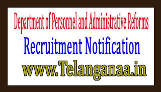 Department of Personnel and Administrative ReformsGovernment of Puducherry Recruitment Notification 2017