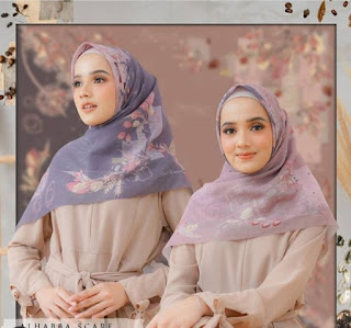 hijab wanita cantik alhabba scarf untuk lebaran