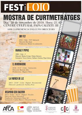 MOSTRA DE CURTMETRATGES. FESTiFOTO 2018.