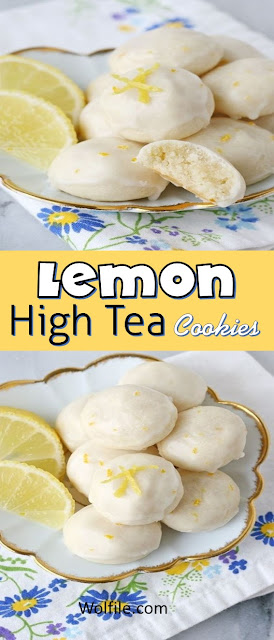 Lemon High Tea Cookies Recipe #Cookies