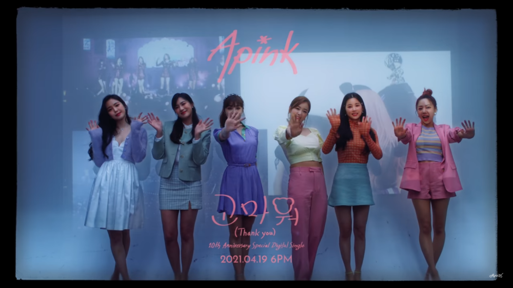 Apink Shares the MV Teaser For 10th Debut Anniversary Celebration, 'Thank You'