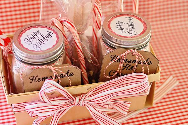 Homemade Hot Chocolate Gift Basket with Homemade Marshmallows
