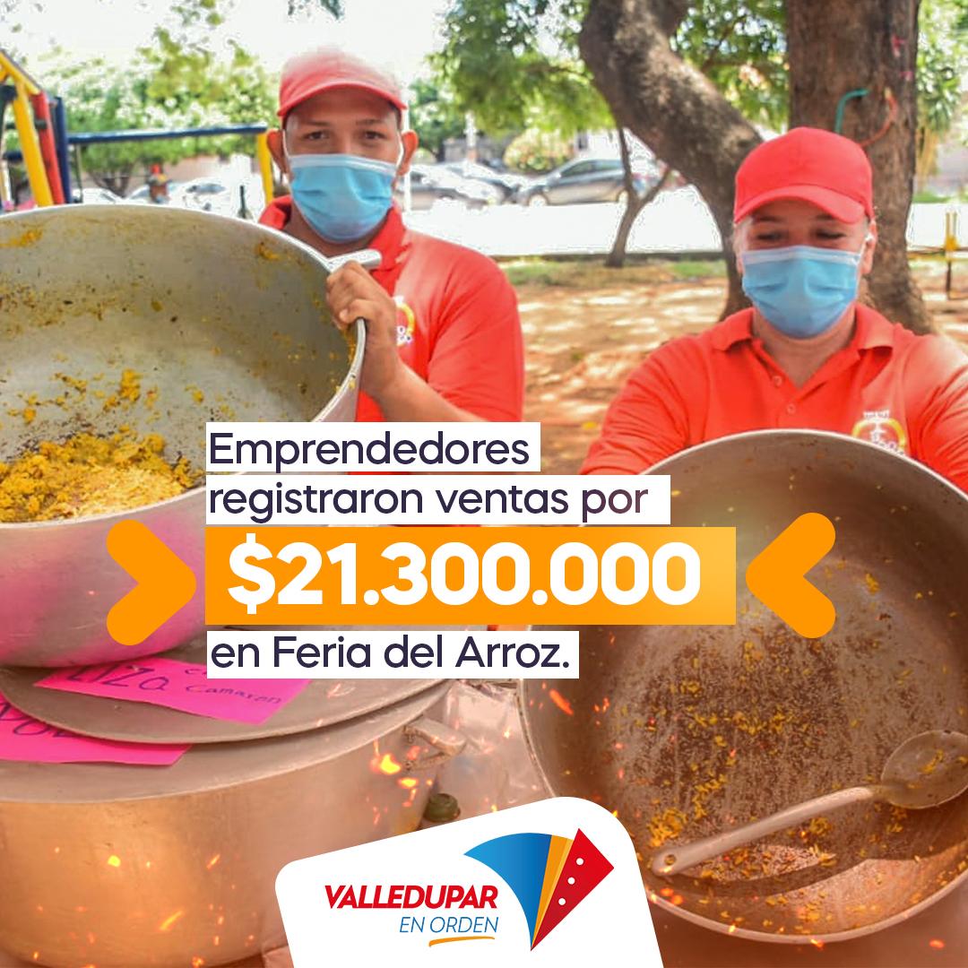 hoyennoticia.com, En Feria Gastronómica Valledupar se vendieron $21 millones en arroz