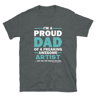 GodGivenGifts1 Proud DAD Of An Artist Unisex T-Shirt