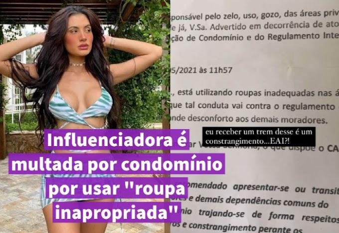 "Influenciadora é multada por condomínio por usar ""roupa inapropriada"""