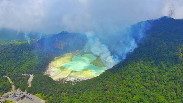 kawah putih is a tourist attractions in bandung, west java