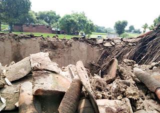 #JaunpurLive : कच्चा मकान गिरने से गृहस्थी का सामान नष्ट, गाय घायल