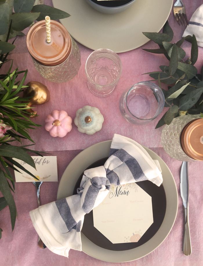 Valentina Vaguada: eucalipto, hydrangea, table setting, tableware, thanksgiving, thanksgiving table, table set, party planner, dinner