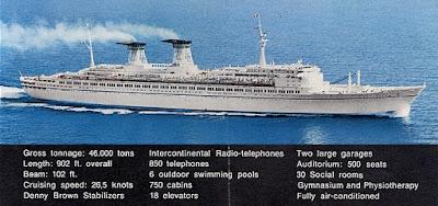 Italian Line's Sleek and Modern Ocean Liner Michelangelo and Raffaello Tranatlantic Liners