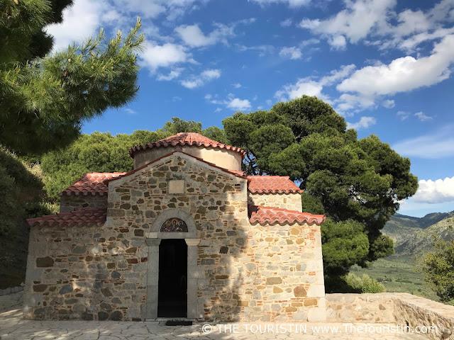 Small chapel of Unesco site Osiou Louka in Greece