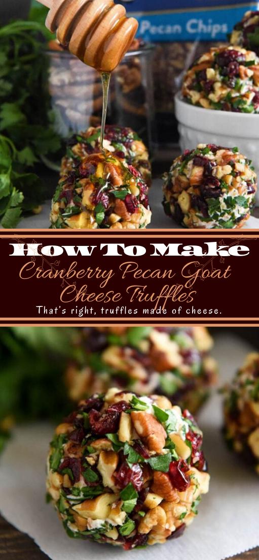 Cranberry Pecan Goat Cheese Truffles #vegan #vegetarian #soup #breakfast #lunch