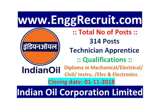 IOCL Recruitment 2018 for Technician Apprentice