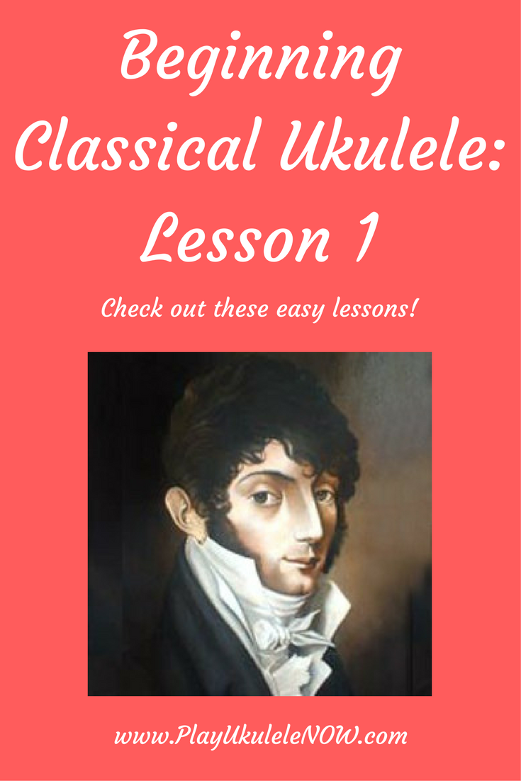 Classical Ukulele For Beginners: Lesson 1 - Scottish Dance -  Mauro Giuliani