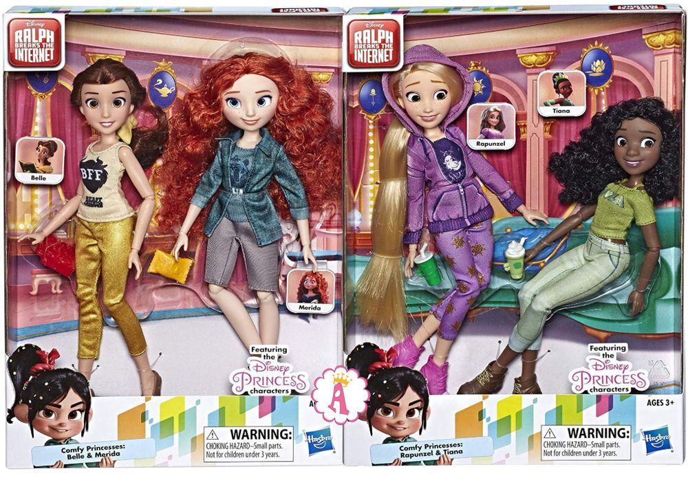 Куклы Ральф против интернета Белль, Мерида, Рапунцель и Тиана