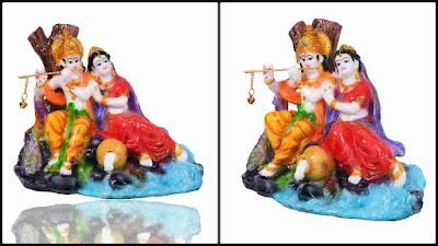 Jaipur Arts Lord Radha Krishna Statue