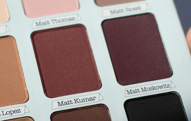the Balm Meet Matte Trimony отзыв и свотчи