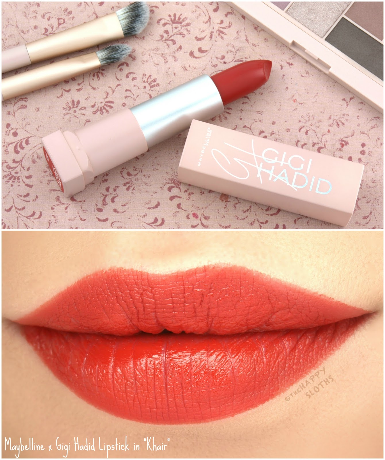 """Maybelline x Gigi Hadid Lipstick in """"Khair"""": Review and Swatches"""