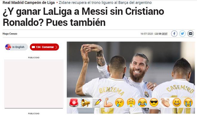 """Real vô địch La Liga: Báo chí """"chế nhạo"""" cả Barca, Ronaldo lẫn Messi 3"""