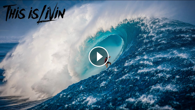 BIGGEST SWELL IN YEARS SURFING MASSIVE OUTER REEF Hawaii Oahu