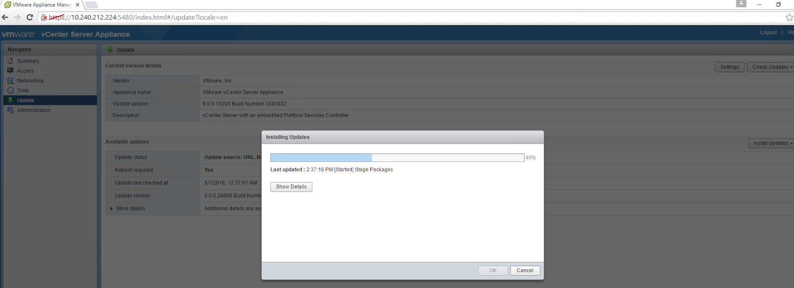 Share the knowledge: Updating vCenter 6 0 to 6 0 U2