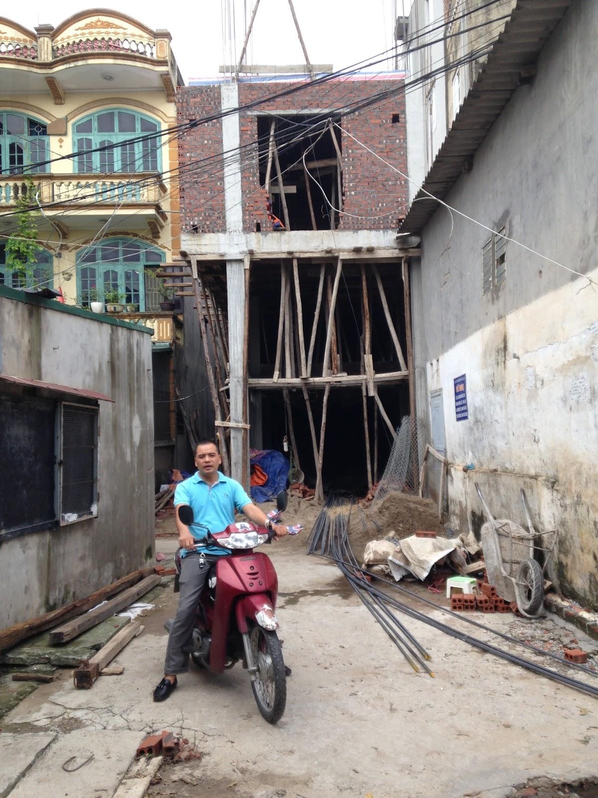 Tòa chung cư mini Minh Đại Lộc đã lên đến sàn tầng 3