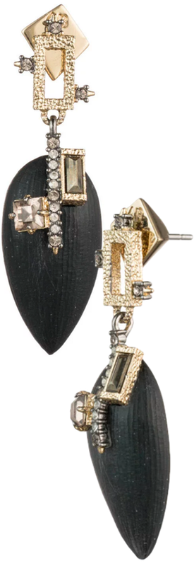 Alexis Bittar Brutalist Tear Drop Post Earring