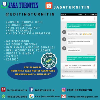 Jasa Cek Lolos Plagiasi Turnitin Aman Dan Resmi Di Banten