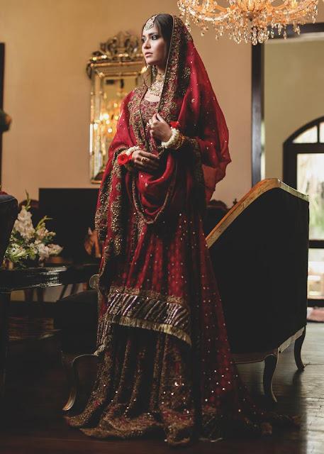 HSY Red bridal dress