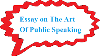 Essay on The Art Of Public Speaking