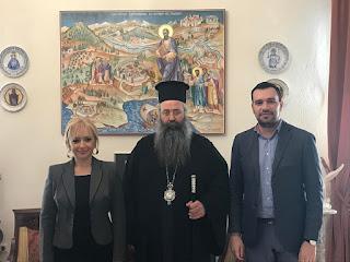 Επίσκεψη του Θεματικού Αντιπεριφερειάρχη Τουρισμού-Πολιτισμού της Περιφέρειας Κεντρικής Μακεδονίας στην Ιερά Μητρόπολη Κίτρους, Κατερίνης και Πλαταμώνος